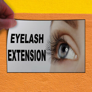 Decal Sticker Eyelash Extension Business Eyelash Extension Outdoor Store Sign