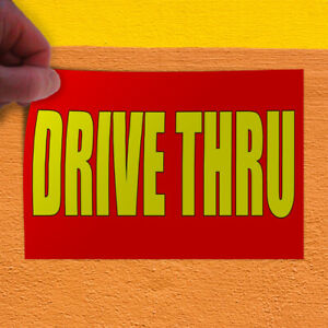 Decal Sticker Drive Thru Style T Business Drive Thru Outdoor Store Sign Red