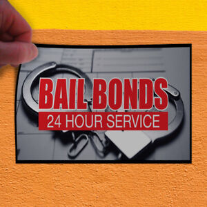 Decal Sticker Bail Bonds 24 Hour Service Business Style T Business Store Sign