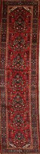 One Of A Kind Traditional Floral 14 Runner Hamedan Persian 13 11 X 3 5 Rug