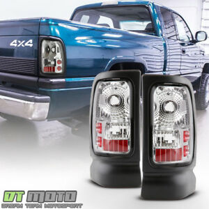 Chrome 1994 2001 Dodge Ram 1500 94 02 2500 3500 Pickup Tail Lights Brake Lamps