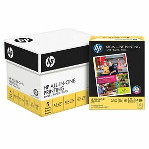 Hp Paper All In One Printing Paper 22lb 8 5x11 96 Bright 207000c 2500 Sheets