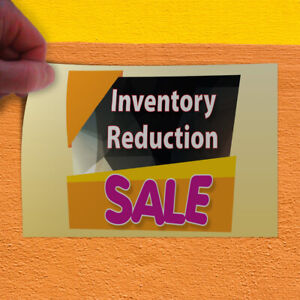 Decal Sticker Inventory Reduction Sale Business Business Outdoor Store Sign