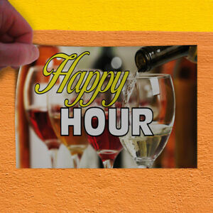 Decal Sticker Happy Hour 1 Business Happy Hour Outdoor Store Sign Yellow
