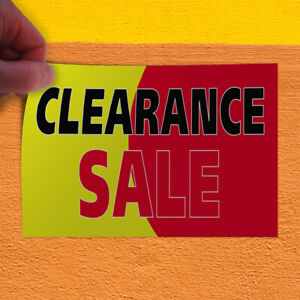 Decal Sticker Clearance Sale 1 Style A Business Sales Outdoor Store Sign Red
