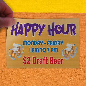 Decal Sticker Happy Hour Monday friday Draft Beer Business Banners Store Sign