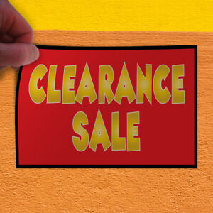 Decal Sticker Clearance Sale 1 Style E Business Banners Sale Store Sign Red
