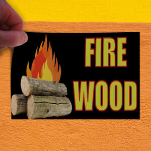 Decal Sticker Fire Wood 2 Business Firewood Outdoor Store Sign Black