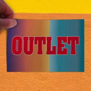 Decal Sticker Outlet Business Outlet Outdoor Store Sign Red