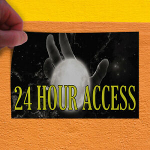 Decal Sticker 24 Hour Access Business Access Outdoor Store Sign Black