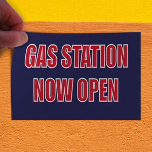 Decal Sticker Gas Station Now Open Business Gas Station Outdoor Store Sign