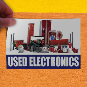 Decal Sticker Used Electronics Business Used Electronics Outdoor Store Sign