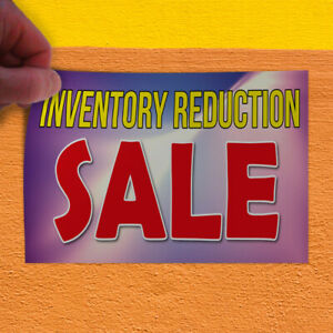 Decal Sticker Inventory Reduction Sale Business Inventory Outdoor Store Sign