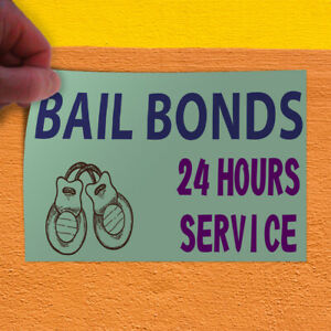 Decal Sticker Bail Bonds 24 Hours Service 1 Style B Business Bails Store Sign