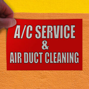 Decal Sticker Ac Service Air Duct Cleaning Business Ac Service Store Sign Red