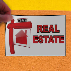 Decal Sticker For Sale Real Estate White Red Business For Sale Store Sign White