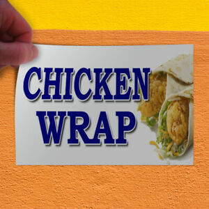 Decal Sticker Chicken Wrap Food Fair Truck Restaurant Chicken Wrap Store Sign