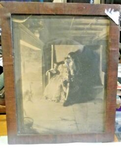 Vintage Ornate Picture Frame With Picture Signed Taylor 1898 Old Picture Old Fr