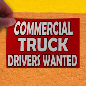 Decal Sticker Commercial Truck Drivers Redwhite Business Outdoor Store Sign Red