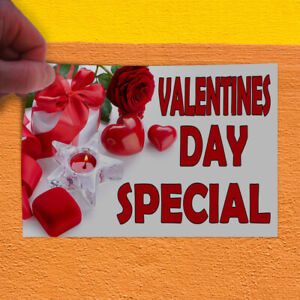 Decal Sticker Valentines Day Special White Red1 Business Sale Store Sign Red