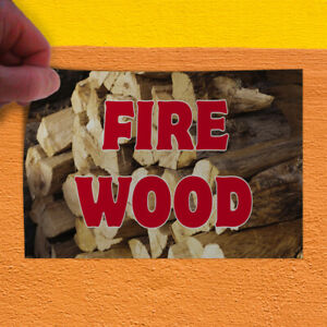 Decal Sticker Fire Wood 1 Style A Business Fire Wood Outdoor Store Sign Red
