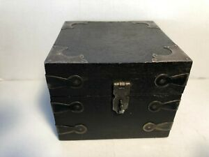 Square Wooden Hinged Box Great For Small Items And Trinkets 4 Square