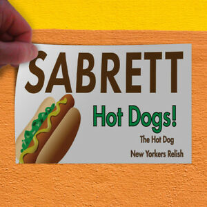 Decal Sticker Sabrett Hot Dogs Restaurant Food Hotdog Sandwich Store Sign