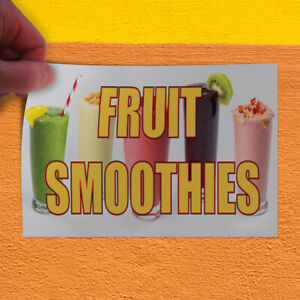 Decal Sticker Fruit Smoothies 1 Style A Restaurant Food Outdoor Store Sign