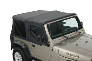 14010135 King 4wd Premium Replacement Soft Top With Upper Doors Jeep Wrangler T