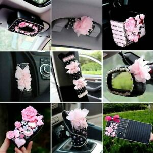Universal Flower Inerior Accessories For Woman Leather Car Steering Wheel Cover