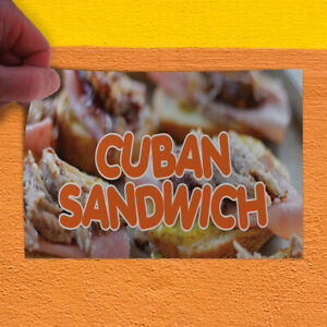Decal Sticker Cuban Sandwich 1 Style B Restaurant Food Outdoor Store Sign