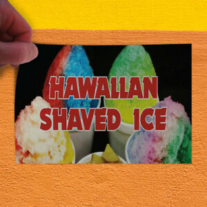 Decal Sticker Hawaiian Shaved Ice 1 Style H Restaurant Food Store Sign Black