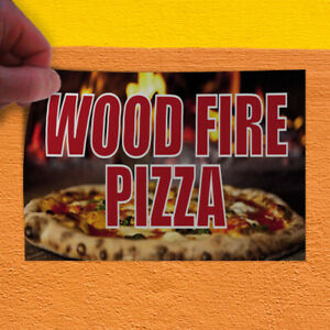 Decal Sticker Wood Fire Pizza Restaurant Food Wood Fire Outdoor Store Sign