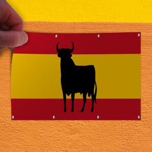 Decal Sticker Spanish Bull Flag Red Yellow Black Countries Outdoor Store Sign