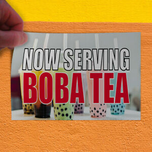 Decal Sticker Now Serving Boba Tea Restaurant Food Now Serving Store Sign