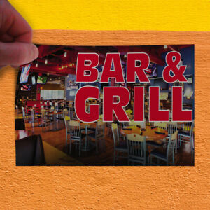 Decal Sticker Bar Grill Restaurant Food Bar Grill Outdoor Store Sign Green