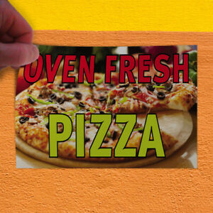 Decal Sticker Oven Fresh Pizza Restaurant Food Oven Fresh Pizza Store Sign