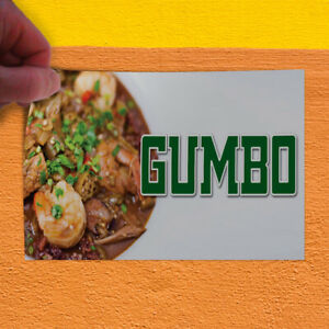 Decal Sticker Gumbo Restaurant Cafe Bar Restaurant Food Gumbo Store Sign