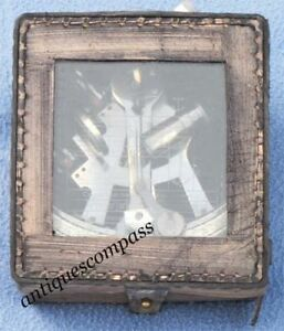 Solid Brass Collectible Sextant Kelvin James 1875 Leather Cover Attractive
