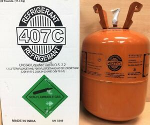 R407c Refrigerant 25lb Cylinder R 407c New Usa Factory Sealed R22 Replacement