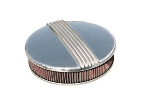 Mooneyes Hot Rod 14 Round Air Cleaner With Cast Aluminum Finned Top Mp720