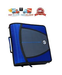 Case it Mighty Zip Tab O ring Binder Blue 3 Inches