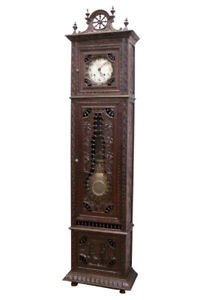 Excellent Antique French Breton Grandfathers Clock Late 19th Century Oak