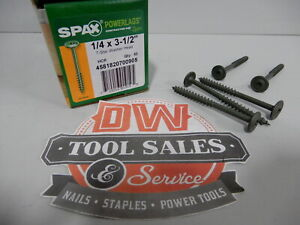 Spax Screws Made In Usa 1 4 X 3 1 2 Washer Head Star Drive Exterior