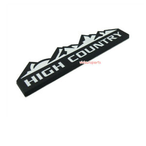 3d Metal High Country Emblem Black White Rear Trunk Badge Sticker For Jeep Dodge