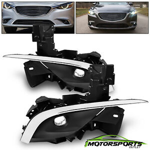 Clear Lens For 2016 2017 Mazda 6 Led Fog Lights Lamps With Chrome Trim Set