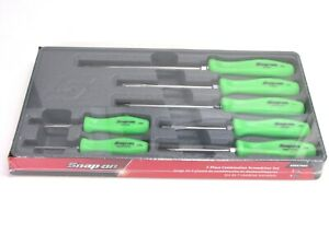 Snap On 7 pc Combination Screwdriver Set Green Hard Handle Sddx70ag