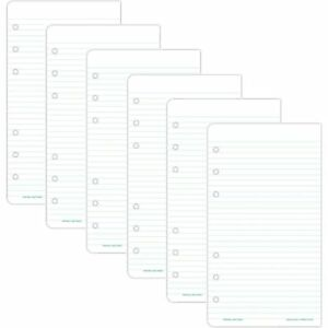 Day timer 87128 Lined Note Pads For Organizer 3 3 4 X 6 3 4 6 Pack New