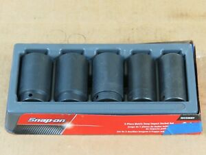 Snap On Tools 305simmy 5 Piece 1 2 Drive Metric Impact Socket Set 29 30 34