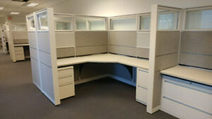 Used Office Cubicles Kimball Cetra 6 5x6 Cubicles